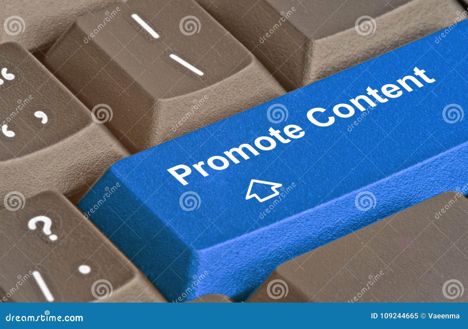 Sleutel om inhoud te bevorderen