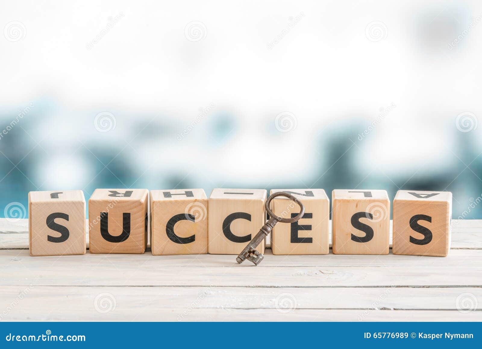 Sleutel tot succes op een lijst