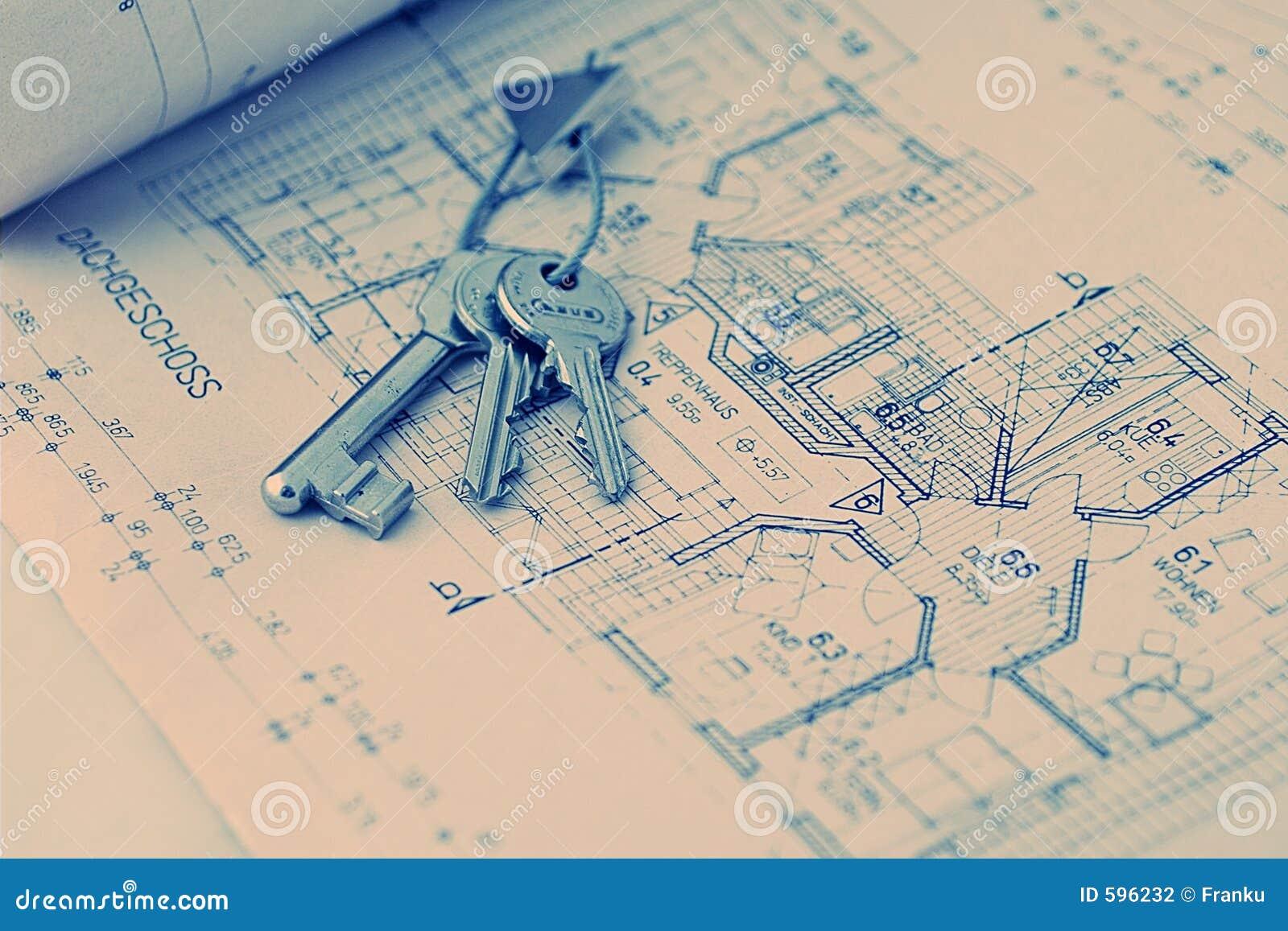 Sleutel voor het nieuwe huis