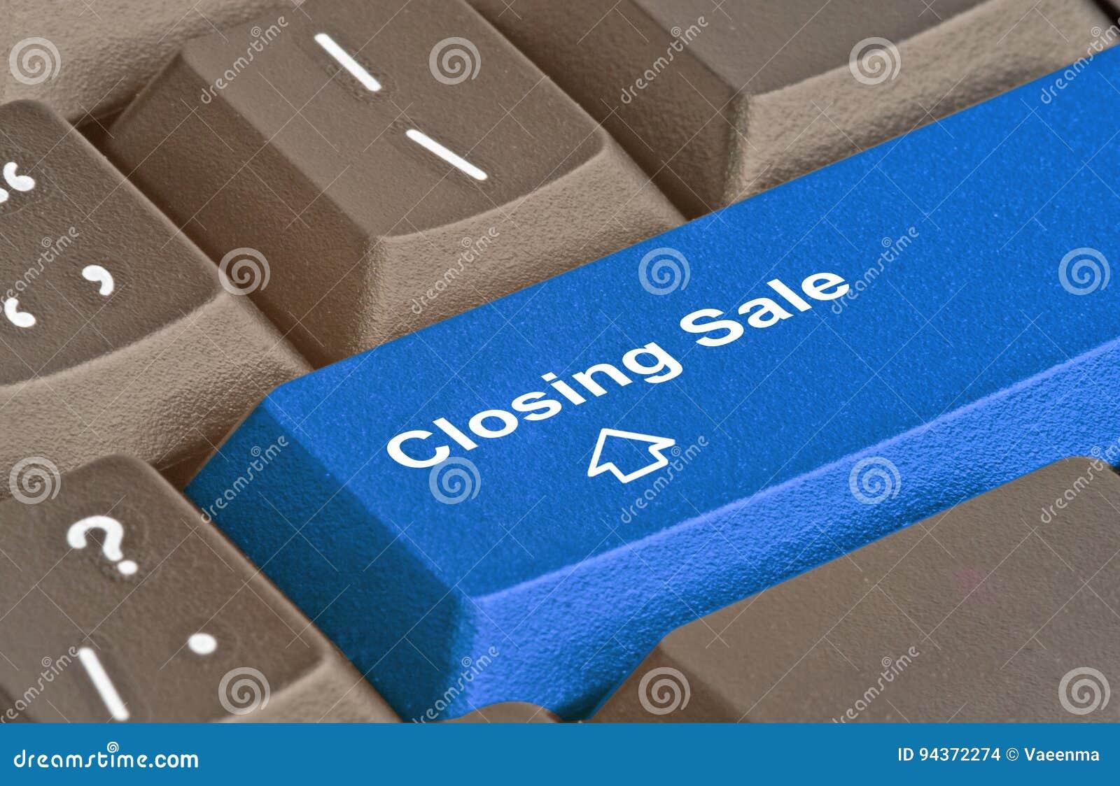 Sleutel voor het sluiten van verkoop