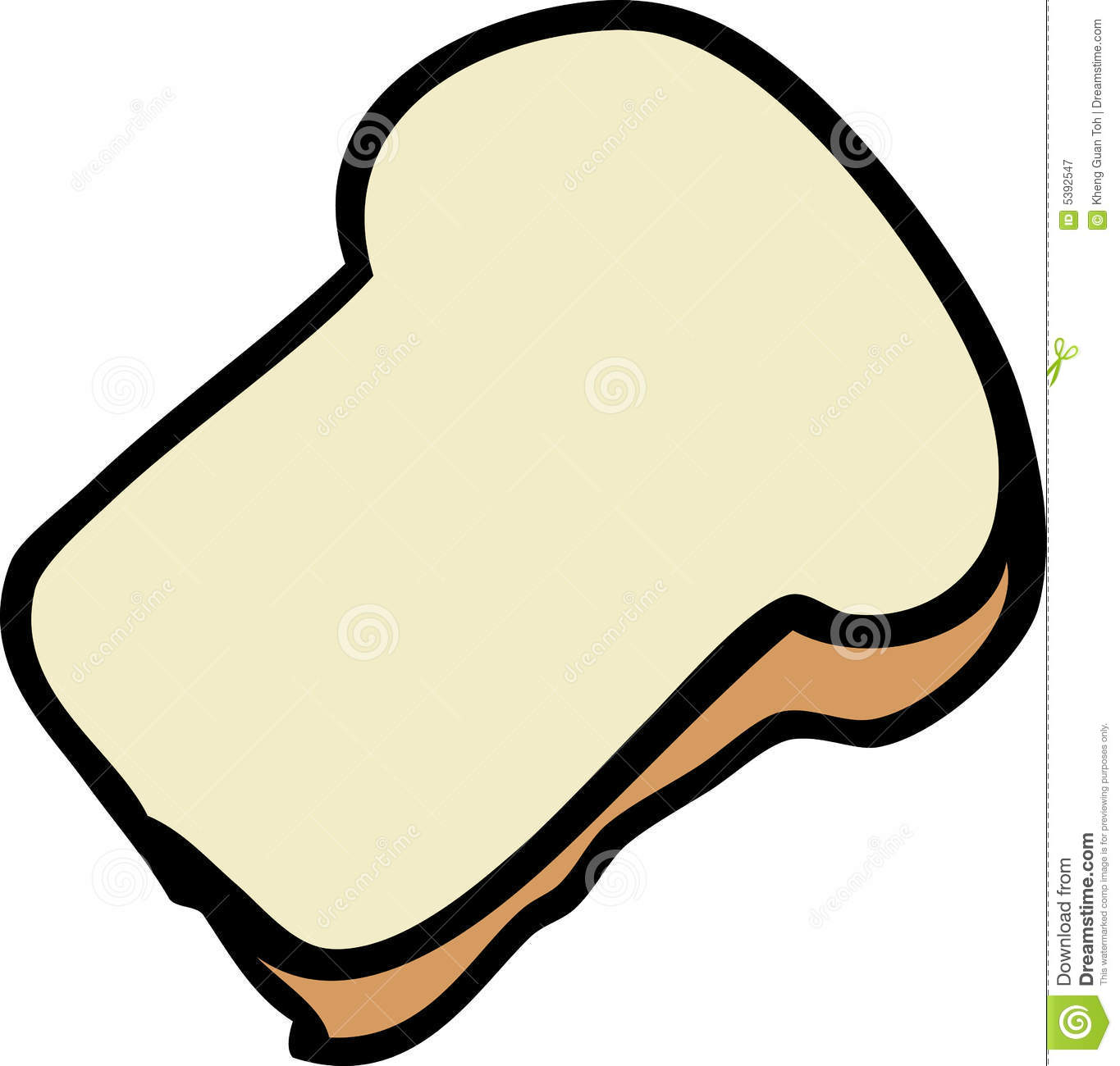 Slice Of Bread Royalty Free Stock Photography - Image: 5392547
