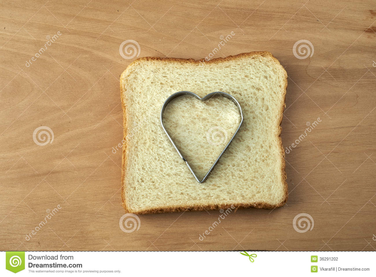 how to cut out bread