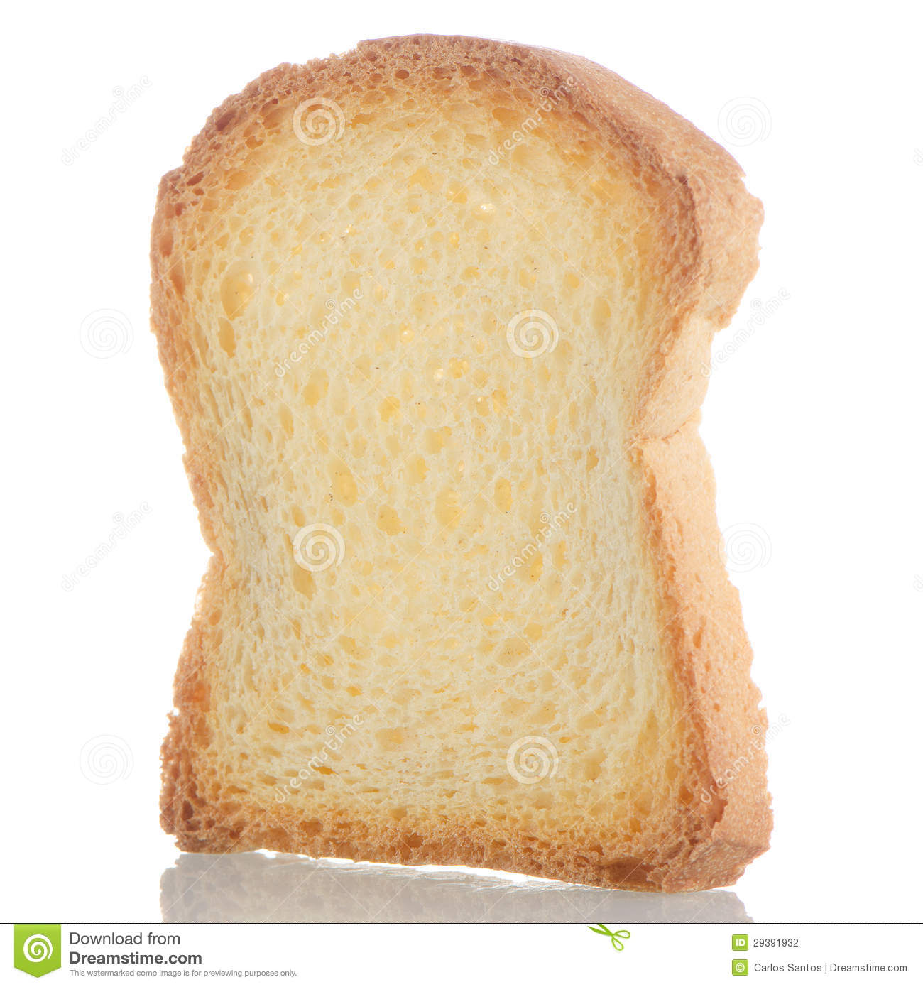 Slice Of Bread Toasted Stock Photography - Image: 29391932