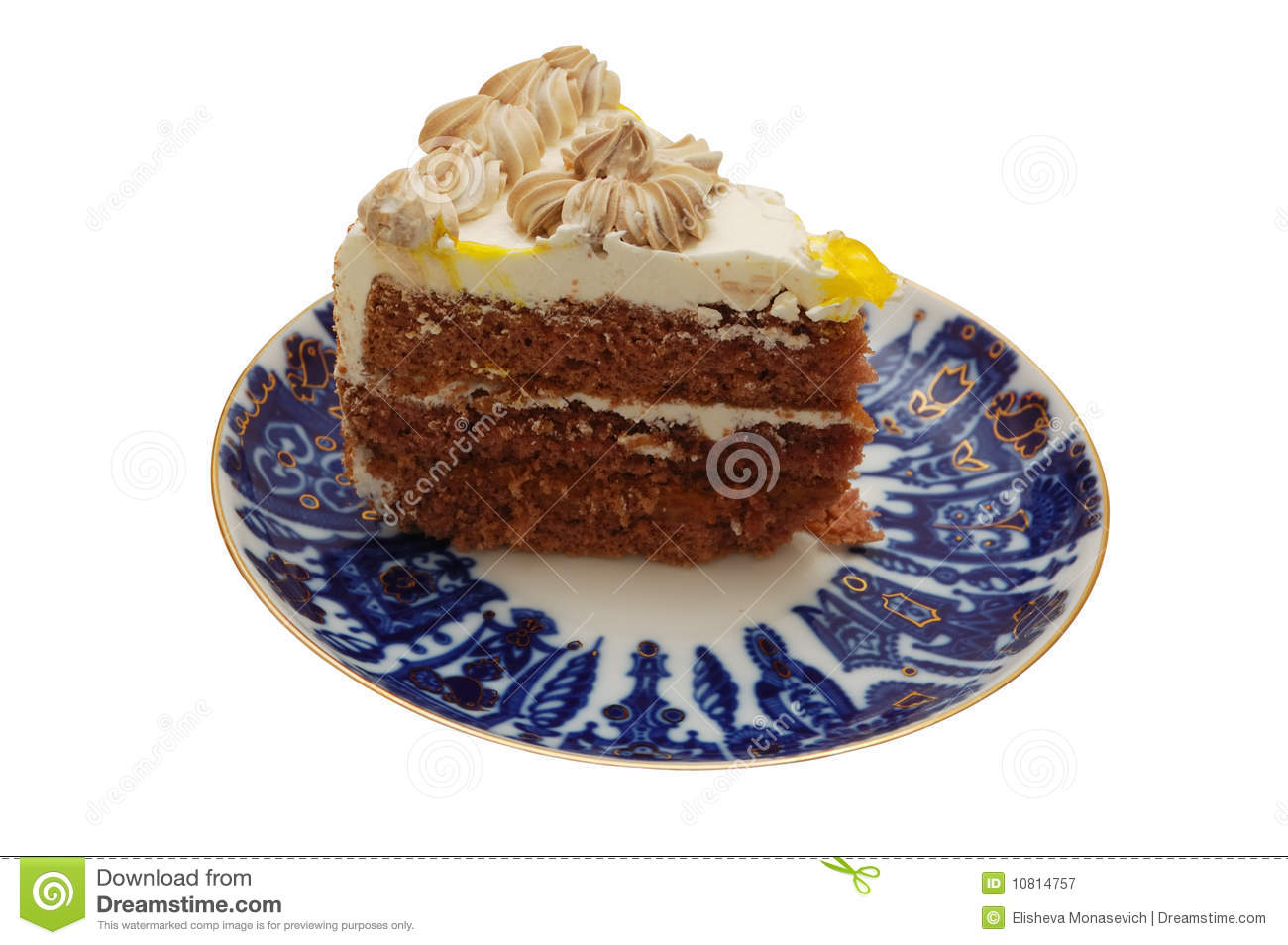 Clipart Slice Of Cake On A Plate : Slice Of Cake On A Plate Royalty Free Stock Photography ...