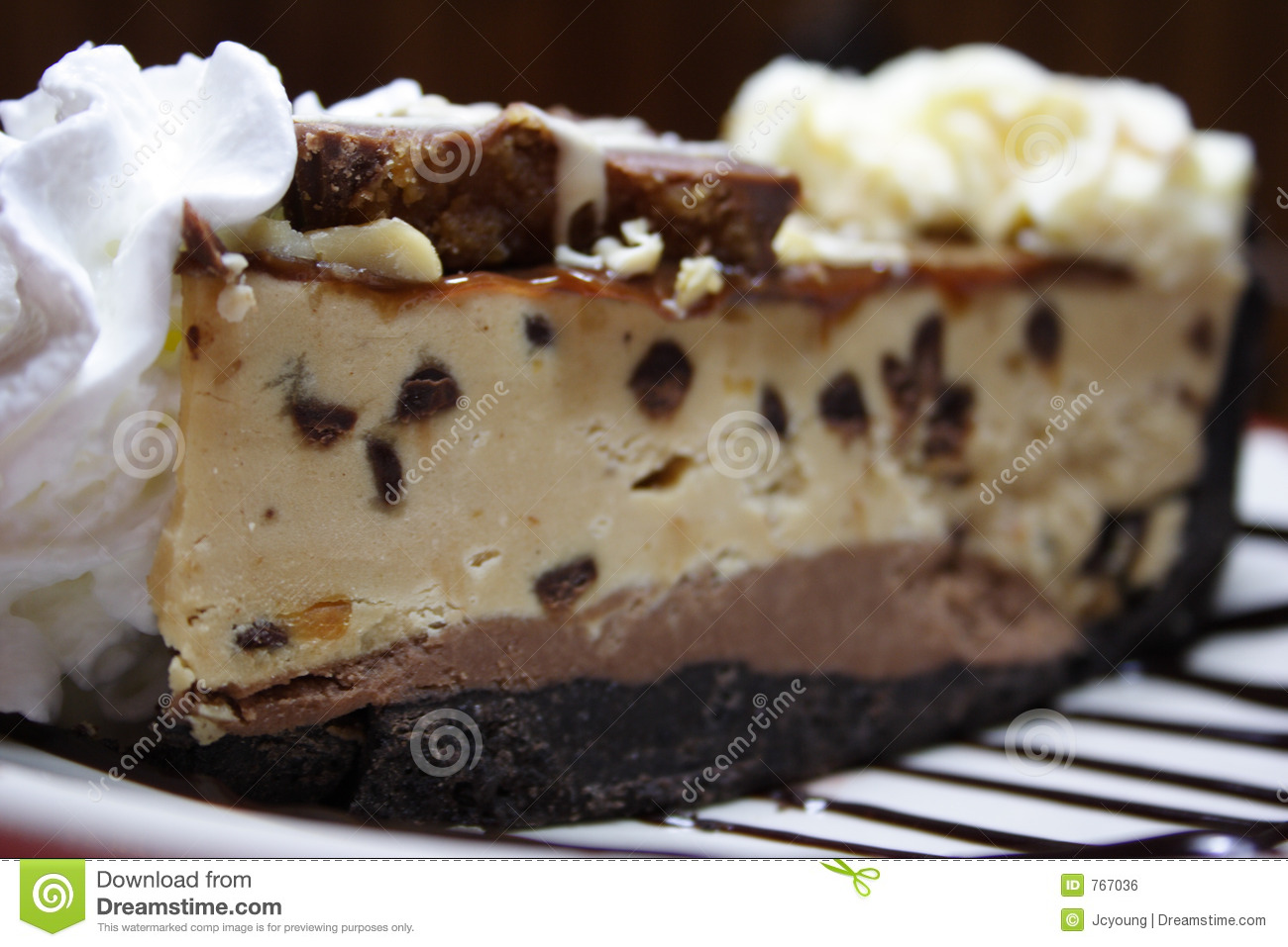Slice of Chocolate Peanut Butter Pie