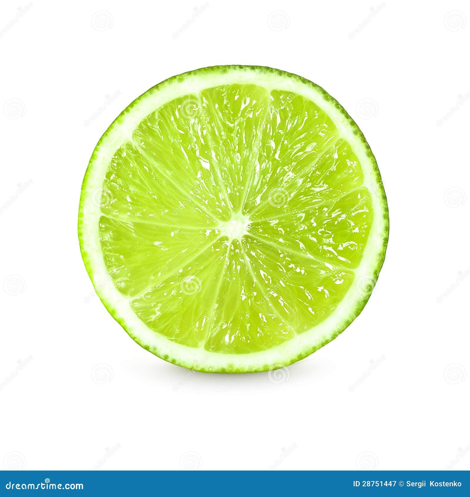 Slice Of Fresh Lime On White Background Royalty Free Stock Photography - Image: 28751447