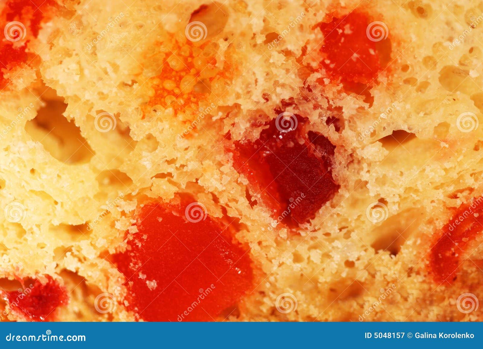 Slice of fruit-cake background