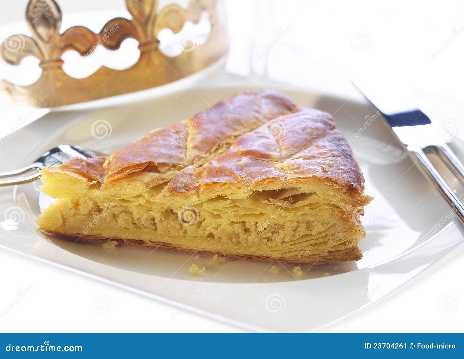 Slice Of Galette Des Rois Stock Image - Image: 23704261