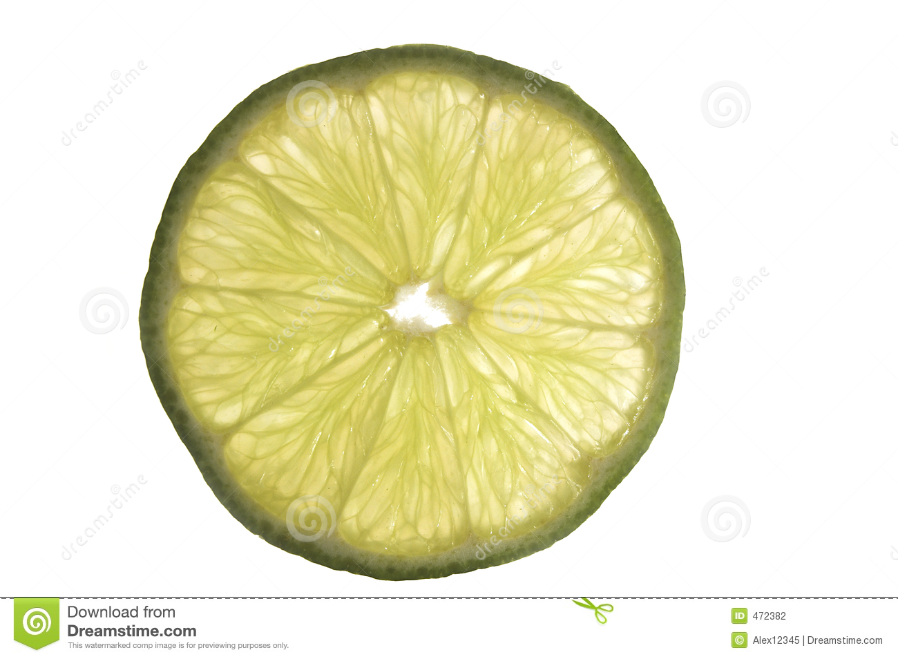 Slice of green lime