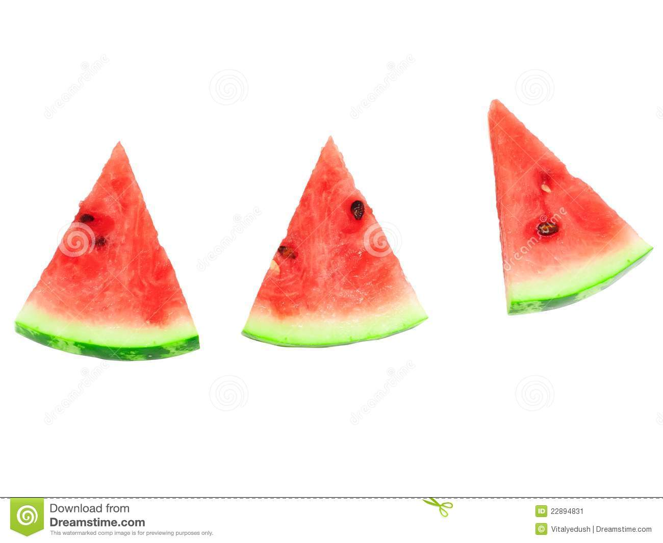 how to cut up a watermelon slices