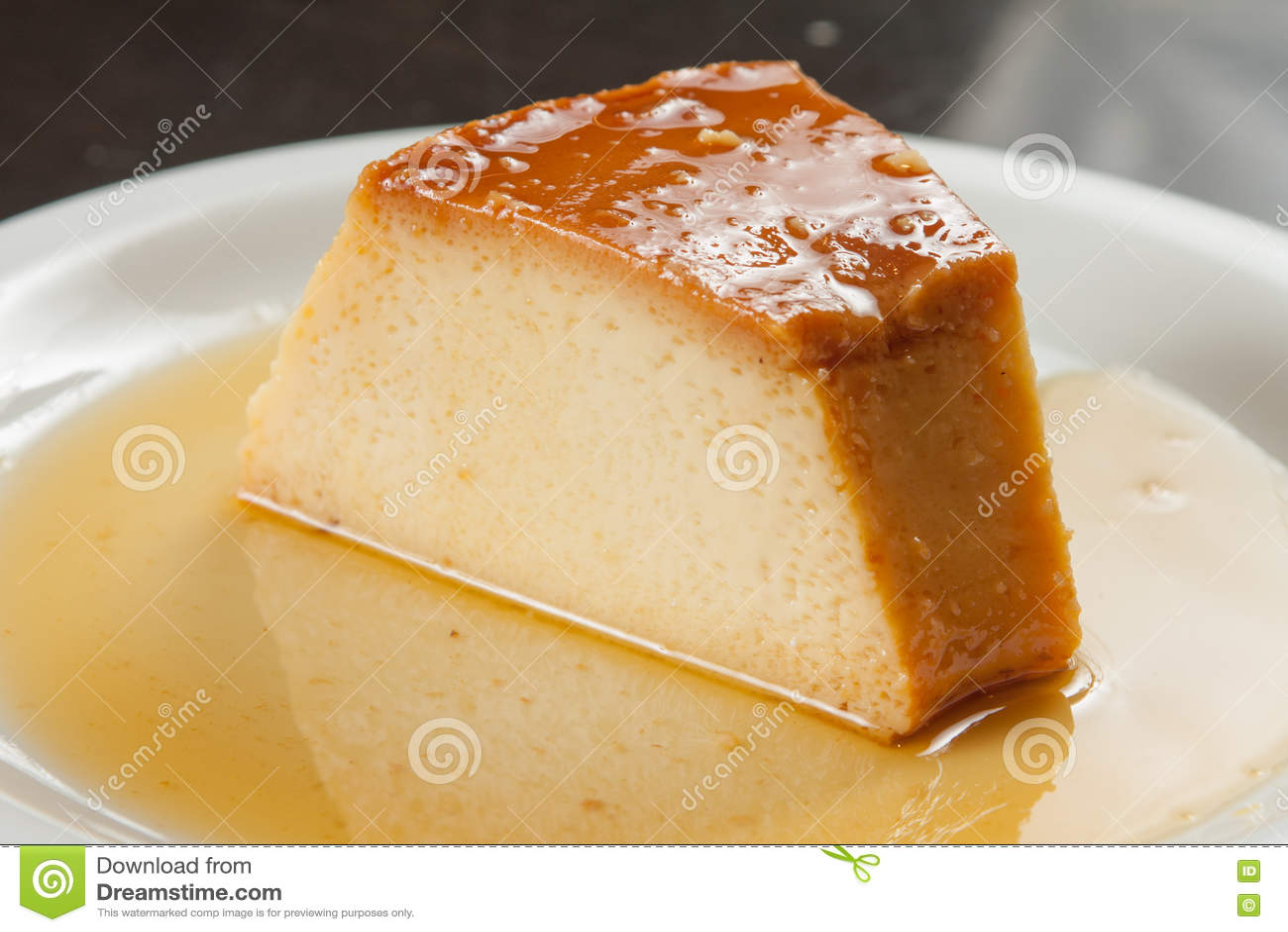 Slice of Milk Pudding