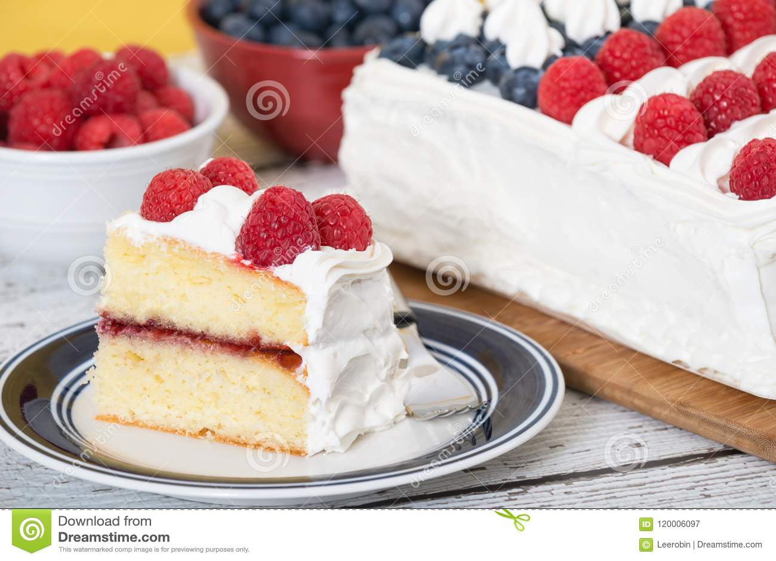 Red White Blue Flag Cake