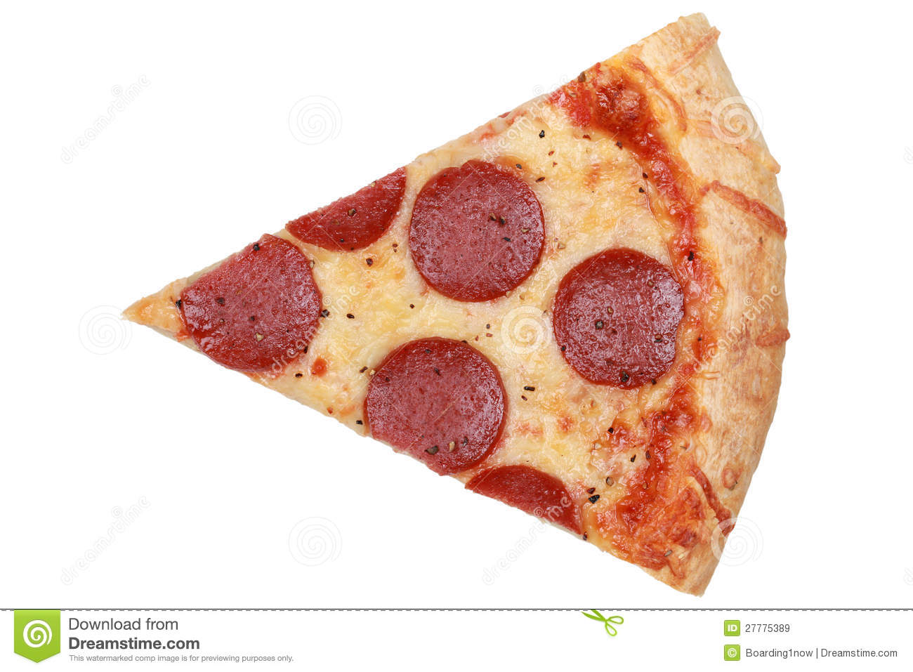 Slice Of A Pepperoni Pizza Royalty Free Stock Images - Image: 27775389