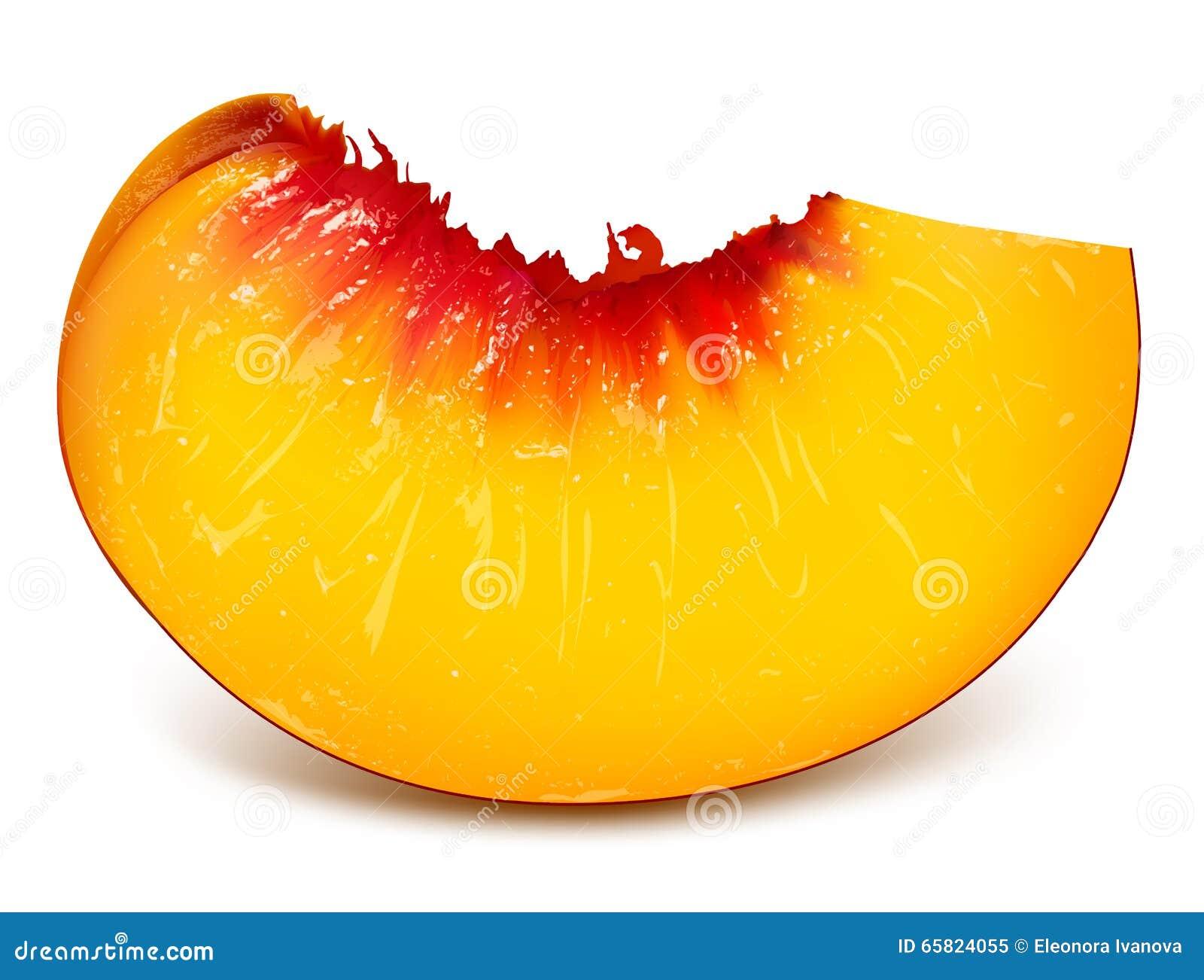 Slice of ripe peach