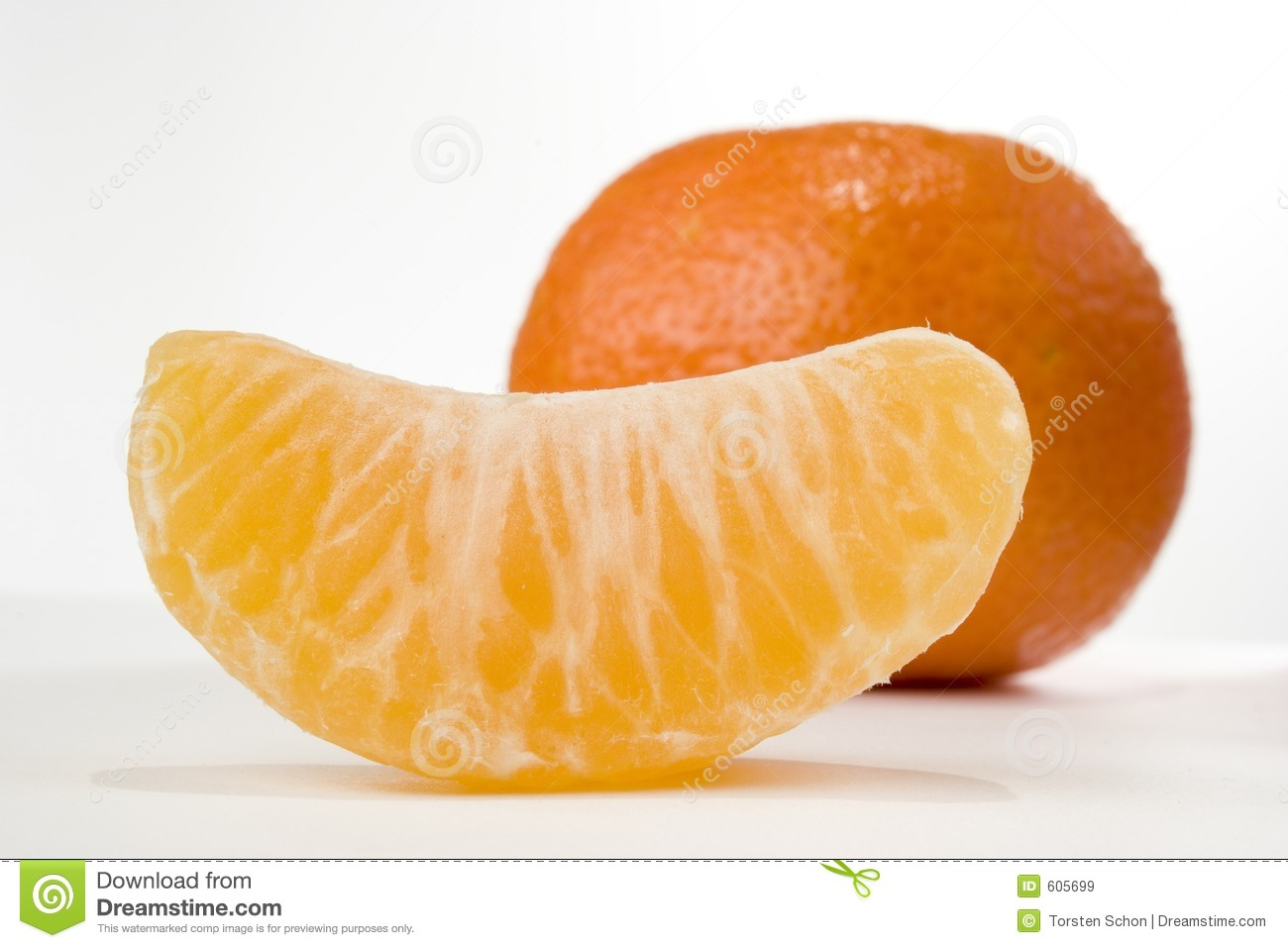 Slice Of Tangerine Royalty Free Stock Images - Image: 605699