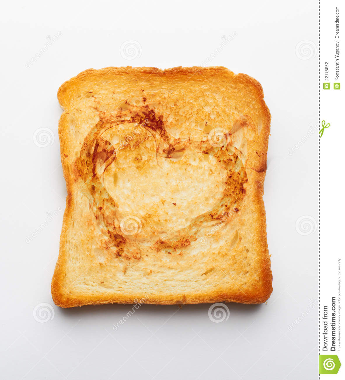 slice of toast stock photo image of lunch toast healthy 22175862