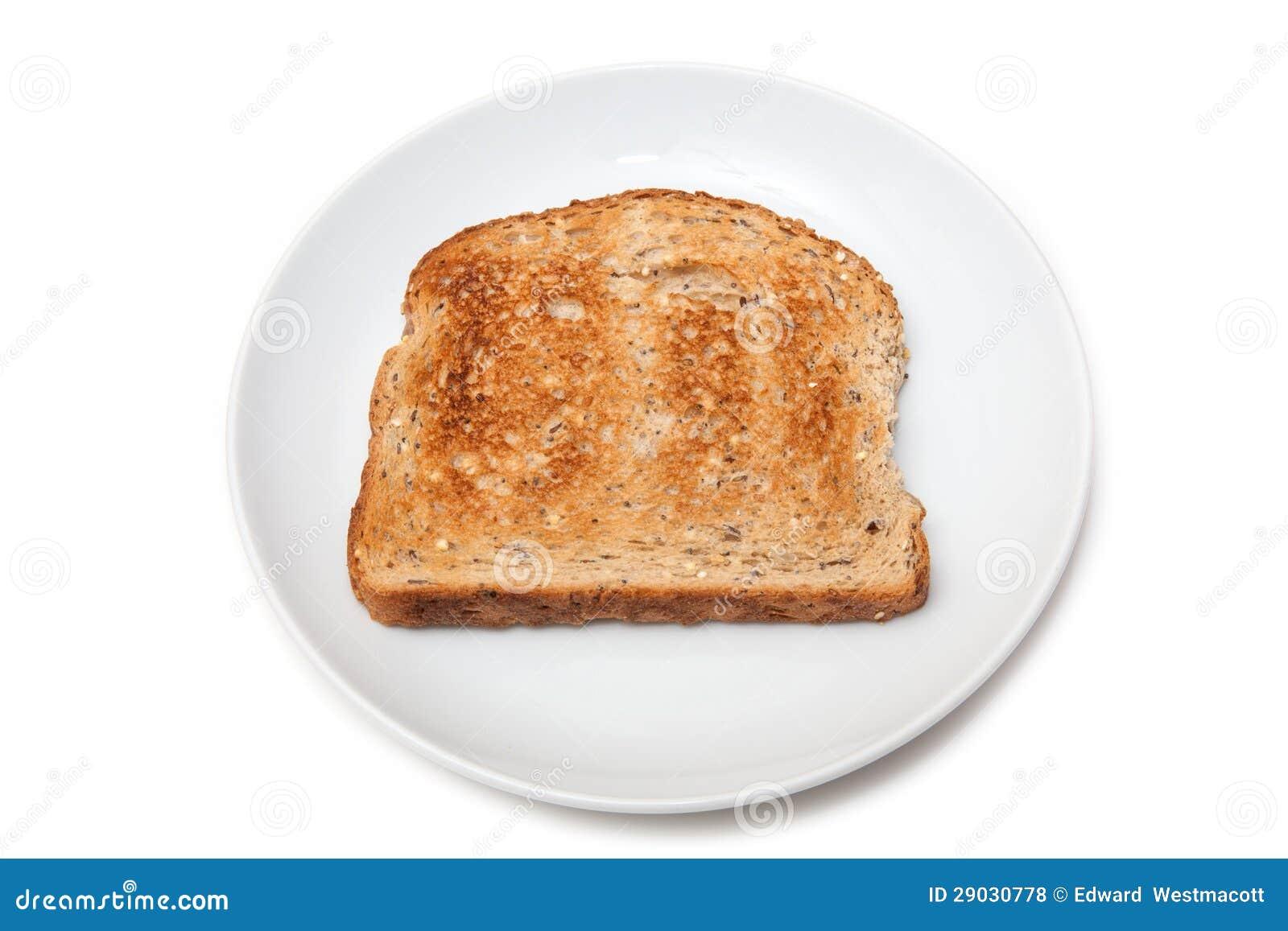 slice of toast on plate stock photo image of background 29030778