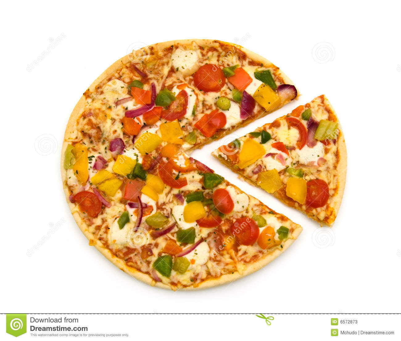 Slice Vegetarian Pizza Stock Photos - Image: 6572873