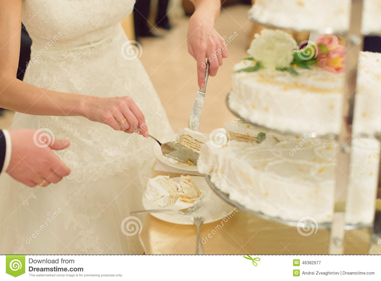 wedding cake slice slice of wedding cake stock image image of dress dinner 24903