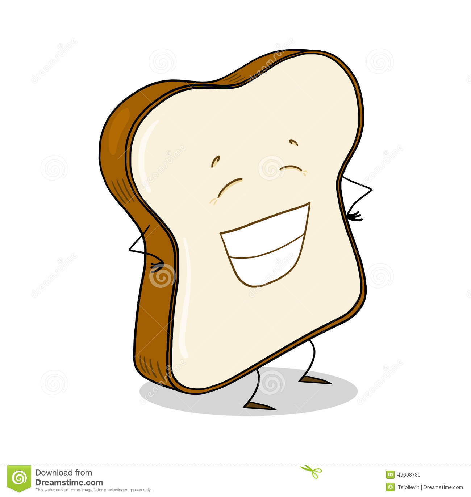White Bread Slice Illustration Stock Illustration - Image ...
