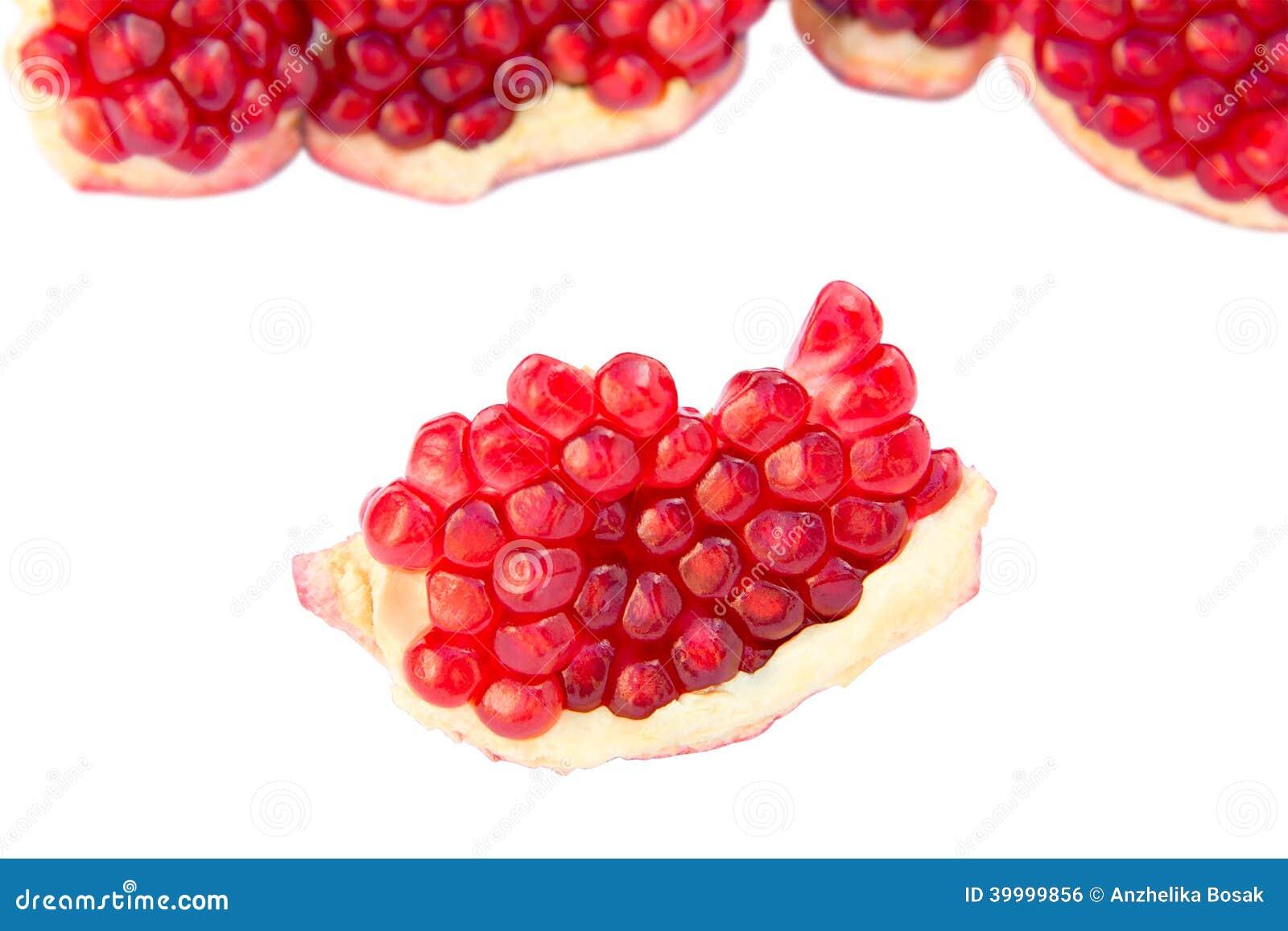 Sliced pomegranate