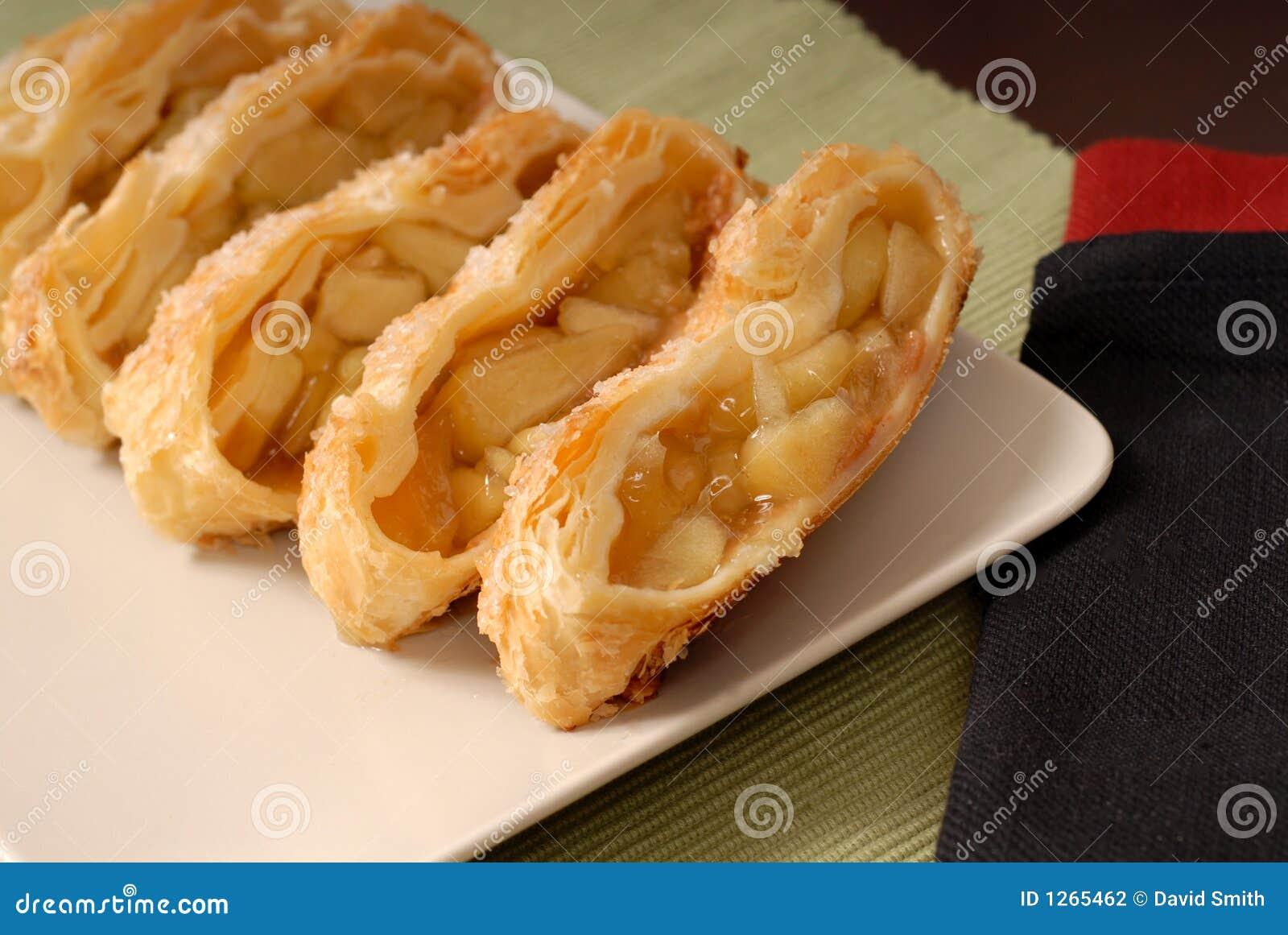 Sliced apple strudel