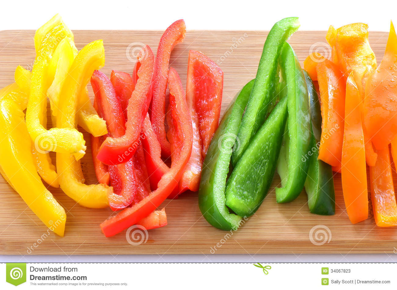 Sliced bell peppers stock image. Image of close, color ...