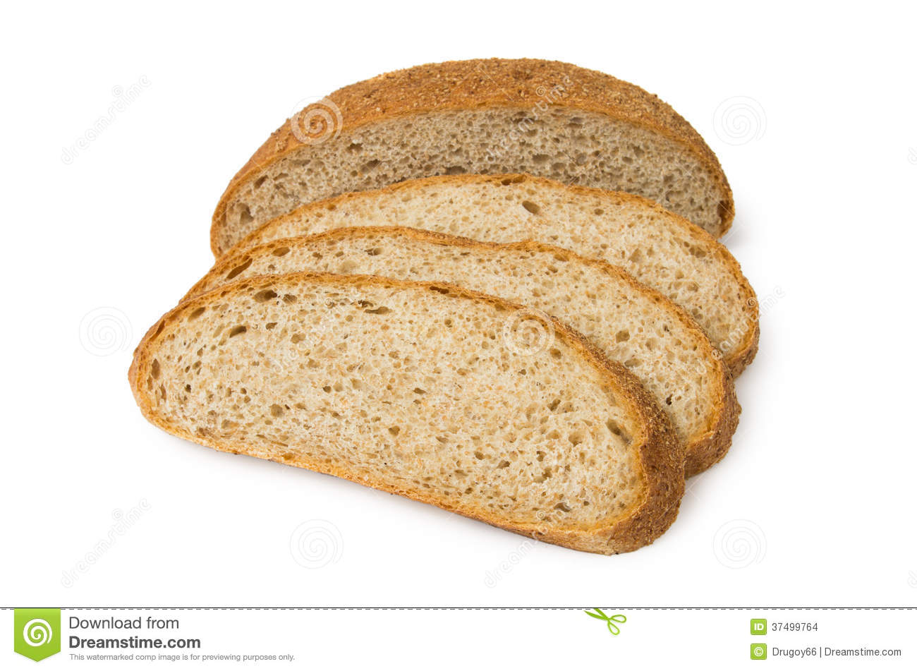 Sliced Bread With Bran Stock Photo Image Of Baked Food