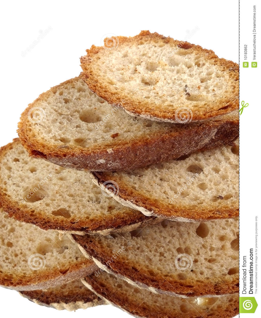 A sliced bread isolated on white