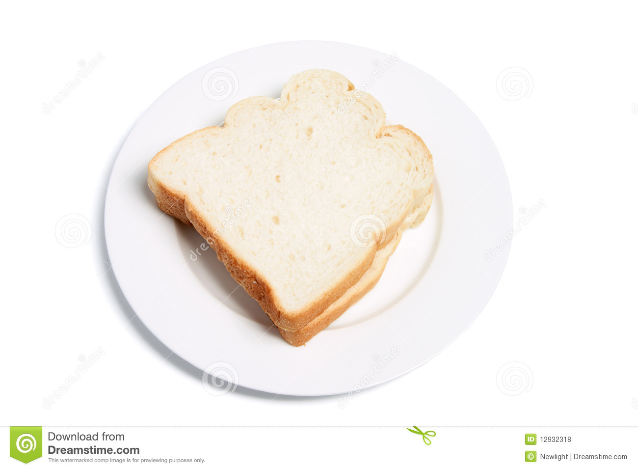 Sliced Bread On Plate Royalty Free Stock Photos - Image ...