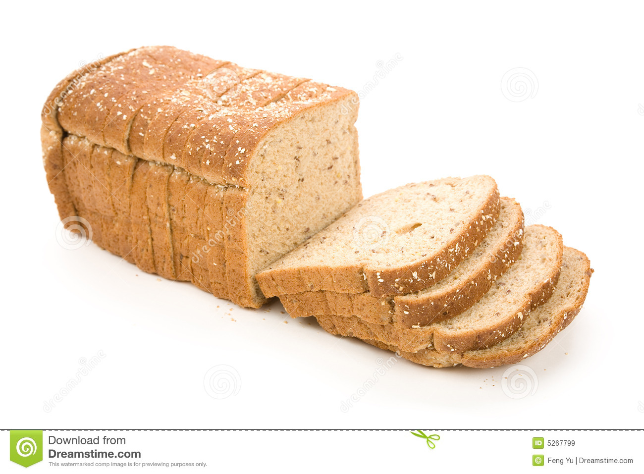 Sliced Brown Bread Royalty Free Stock Images Image 5267799