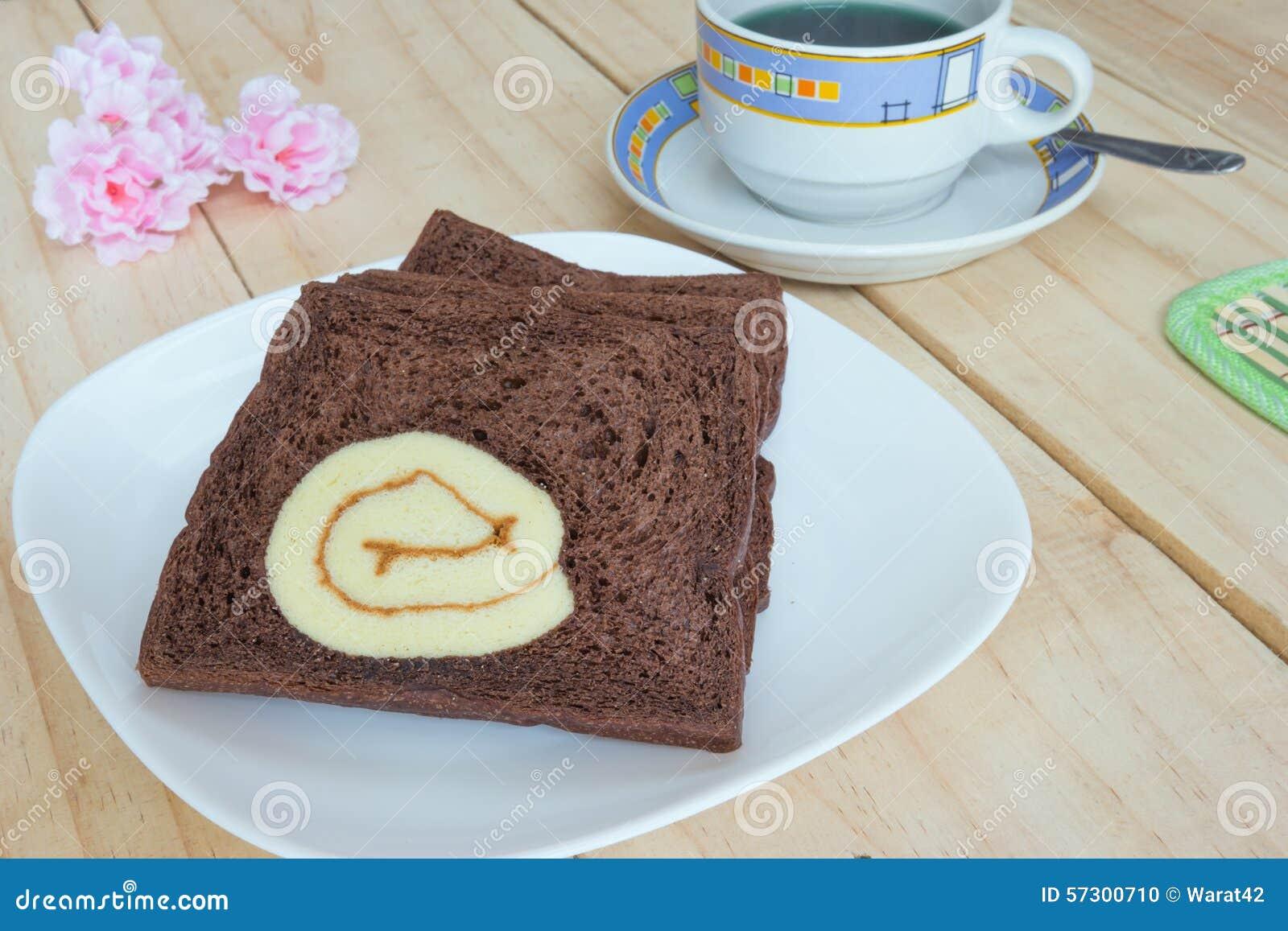Cartoon Jelly Cake Recipe: Bread With Chocolate Stock Photography