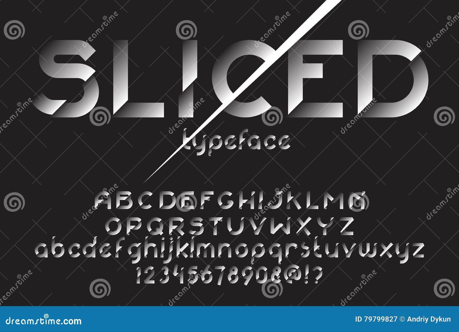 Sliced font set
