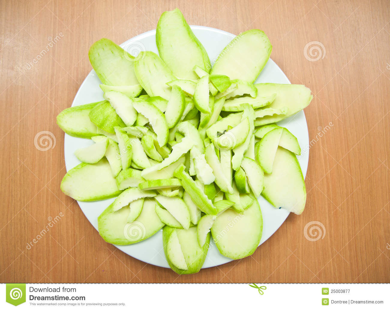 Sliced Green Mango Royalty Free Stock Photography - Image ...