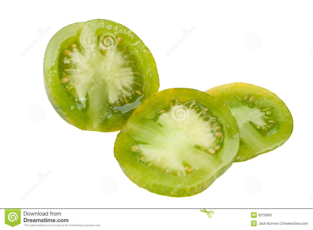 Sliced Green Zebra Tomato Stock Photos - Image: 6216993