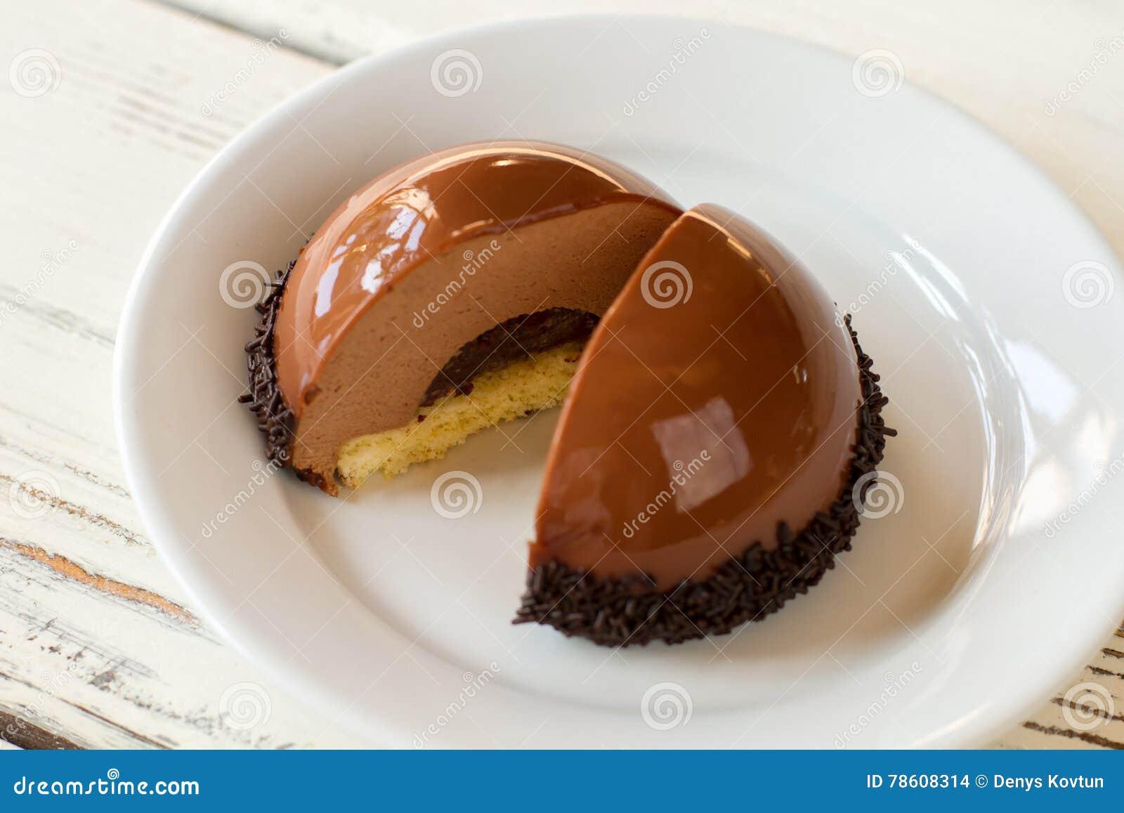 Sliced Half Sphere Dessert Stock Photo Image 78608314