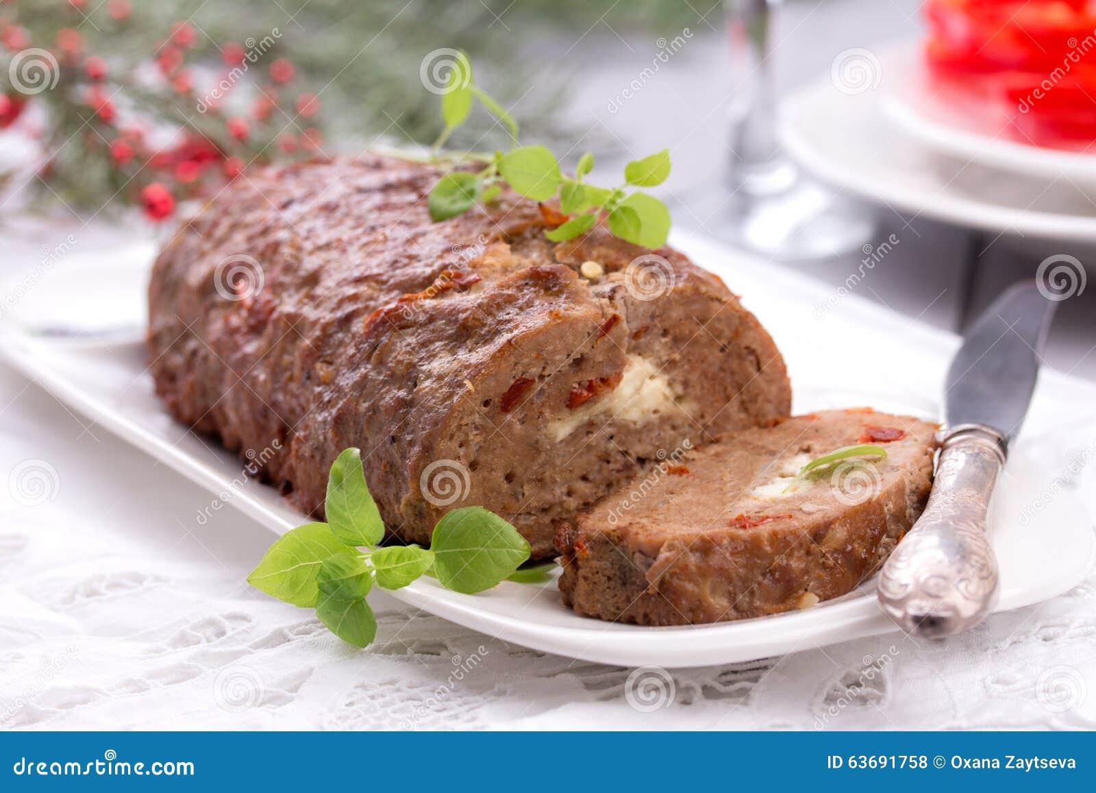 Sliced Homemade Meatloaf Stock Photo Image 63691758