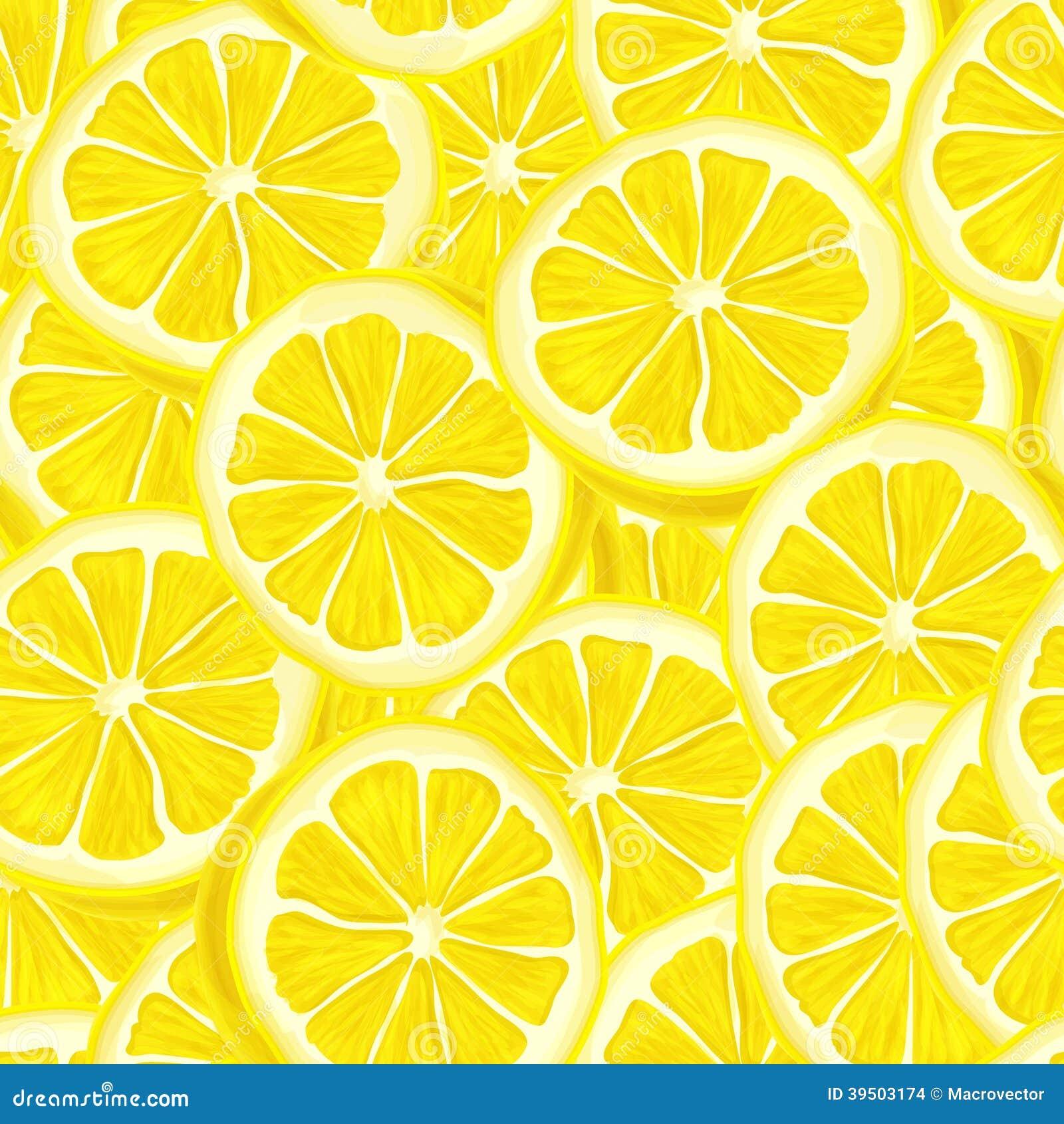 Sliced lemon seamless background