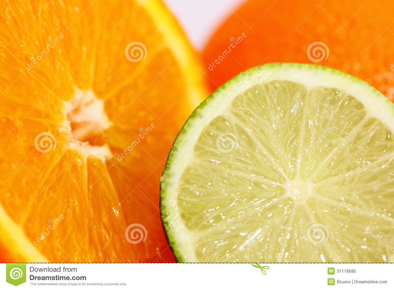 Sliced Lime And Orange Royalty Free Stock Photo Image