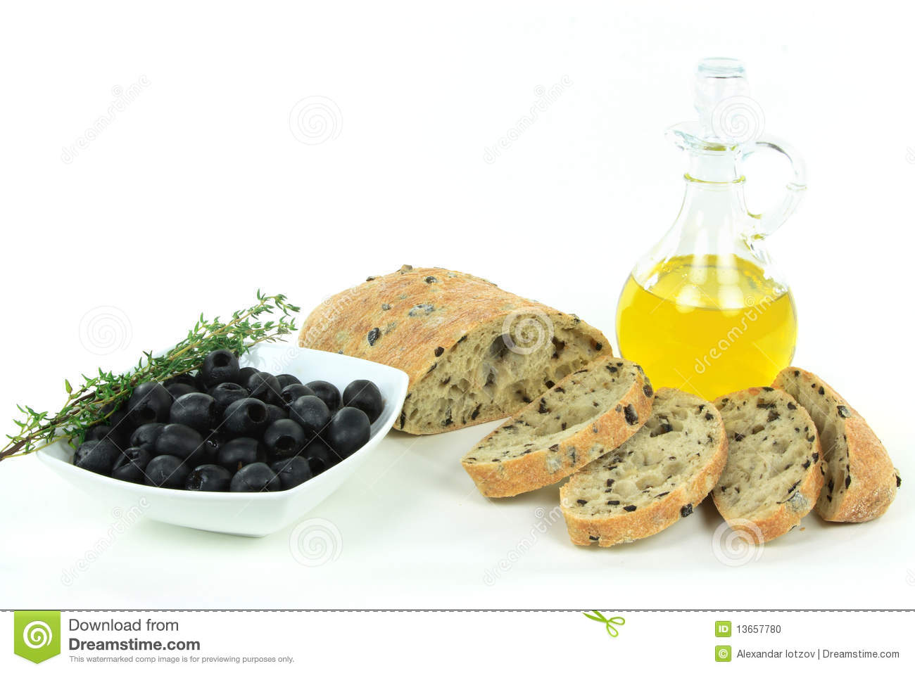 Sliced Loaf Mediterranean Ciabatta black olive bread, olives, olive ...