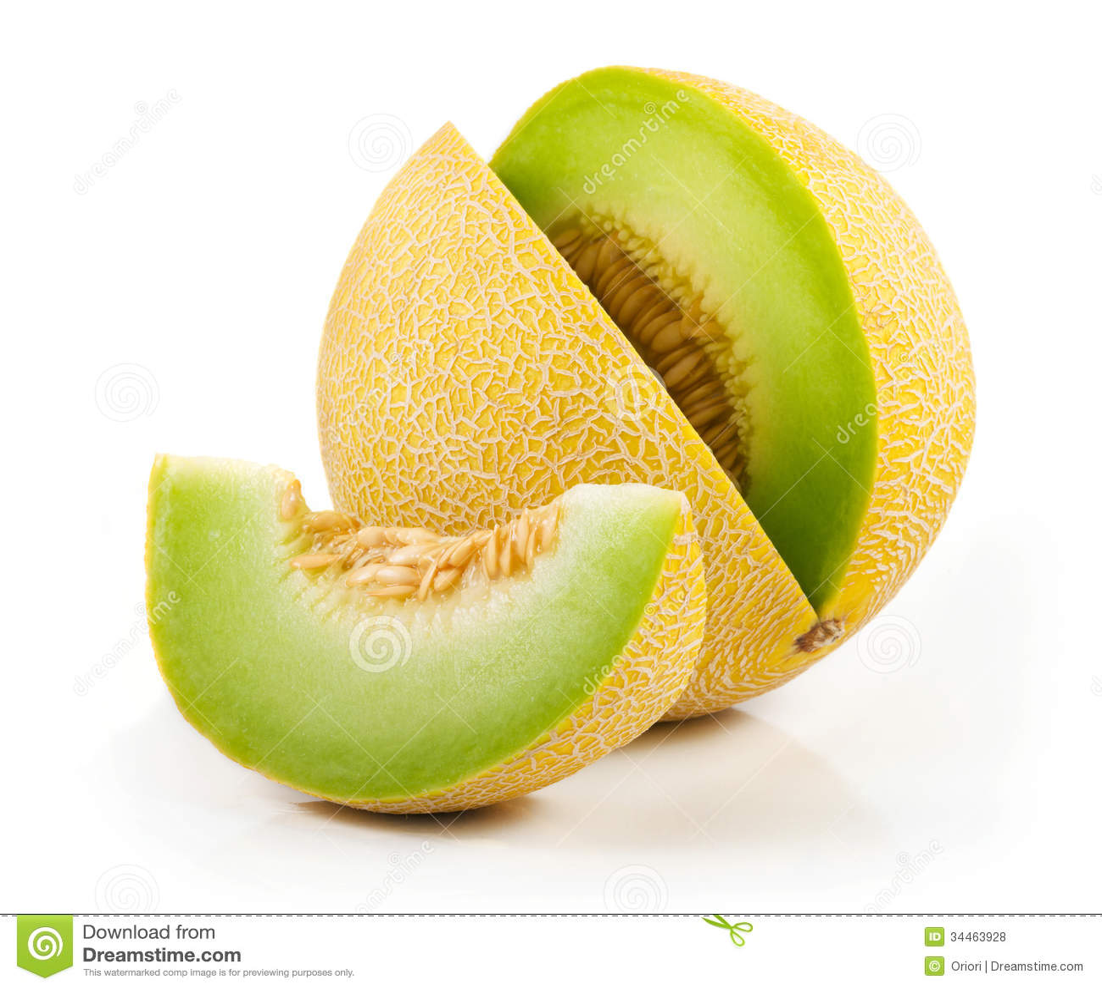 Sliced melon royalty free stock photos image 34463928