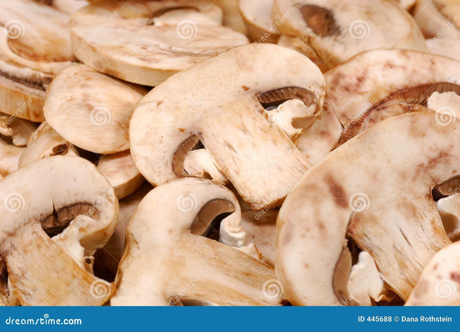 Sliced Mushrooms Royalty Free Stock Photos - Image: 445688