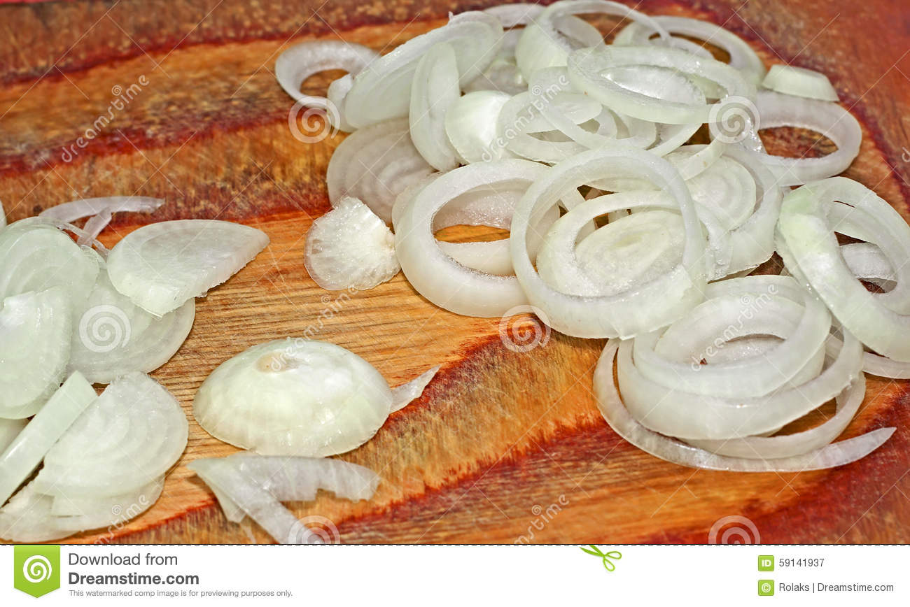 Sliced Onions Stock Photo - Image: 59141937