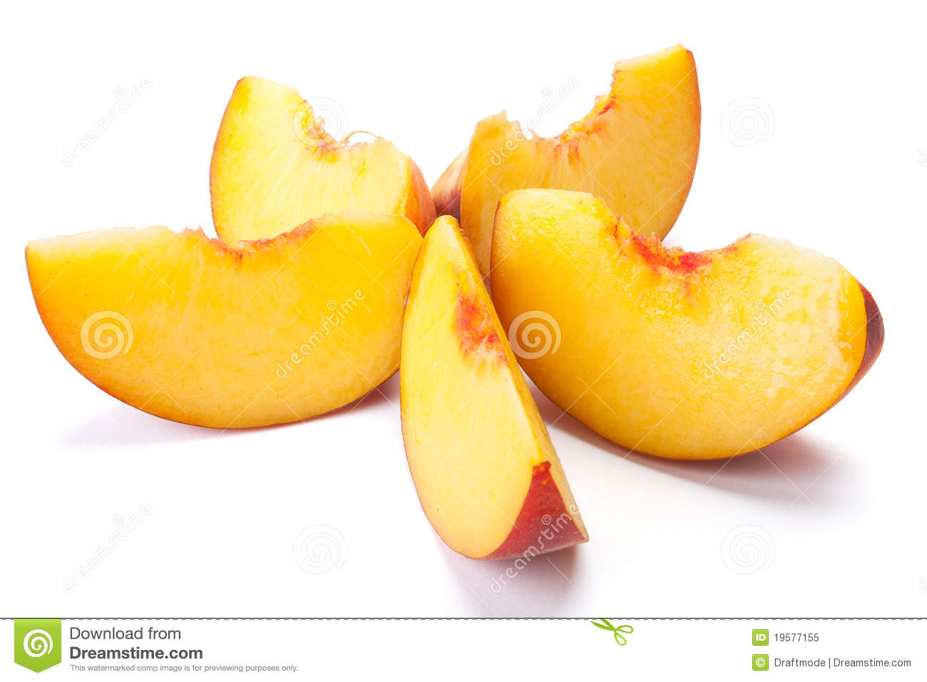 Sliced Peaches Royalty Free Stock Photo - Image: 19577155