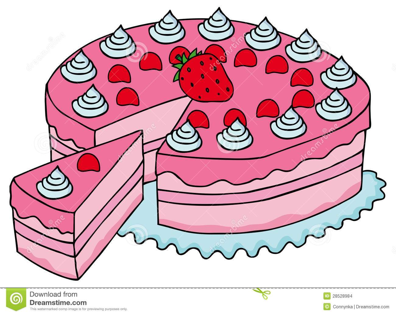 sliced pink cake stock images image 28528984 chocolate cake day clipart chocolate cake slice clipart
