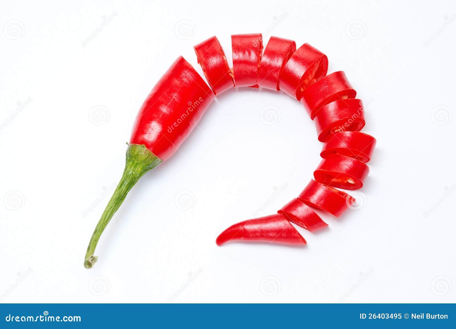 Sliced red chilli