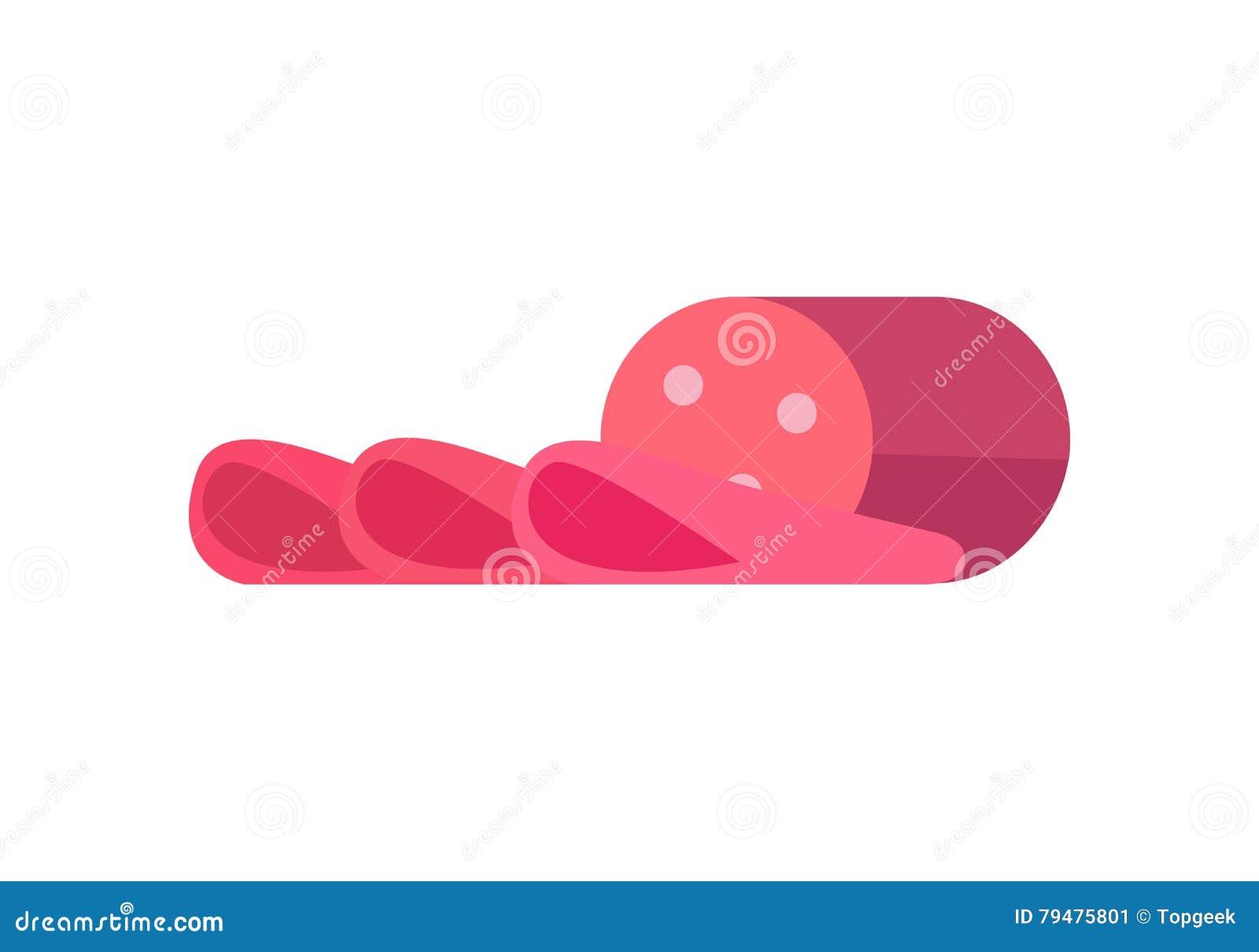 Sliced sausage vector illustration in flat design stock vector sliced sausage vector illustration in flat design biocorpaavc