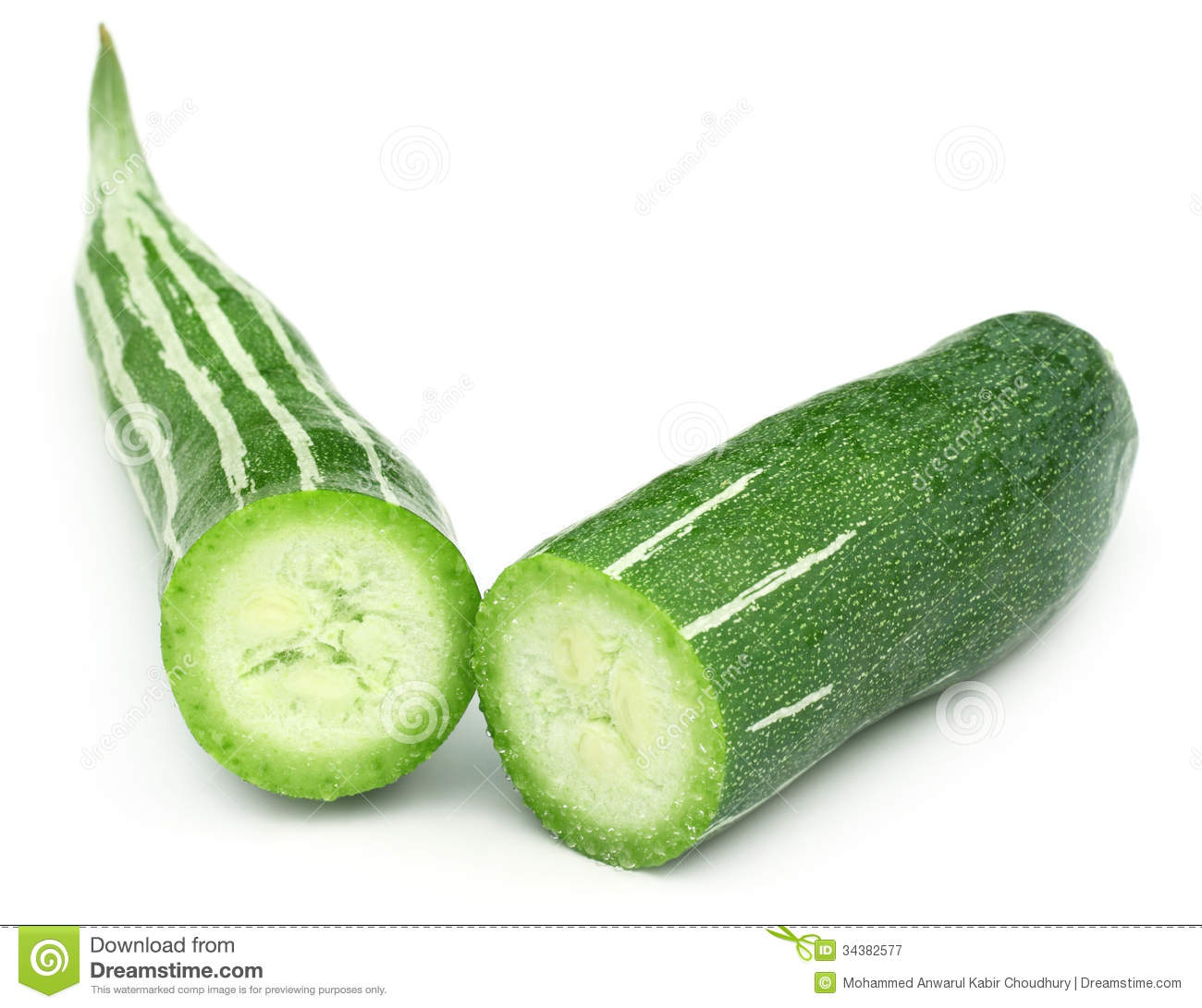 Sliced Snake Gourd Royalty Free Stock Photography - Image: 34382577