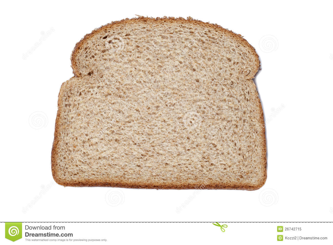 Sliced Of Whole Wheat Bread Stock Image Image 26742715