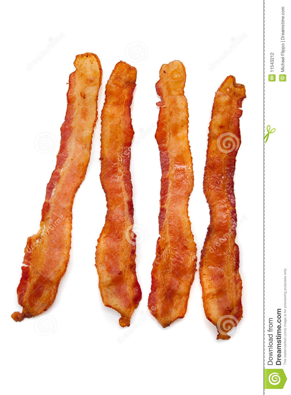 slices of bacon on white stock photo  image of breakfast